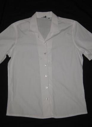 13-15 лет, белая школьная рубашка с коротким рукавом девочке