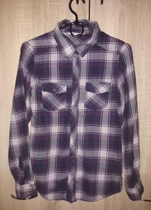 Рубашка в клетку фирмы h&m