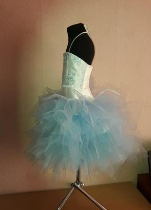 Нарядное пышное платье снежинка2