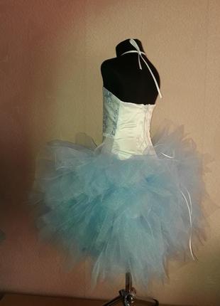 Нарядное пышное платье снежинка3