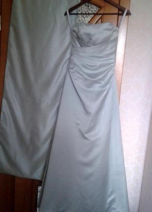 Длинное вечернее платье, мята