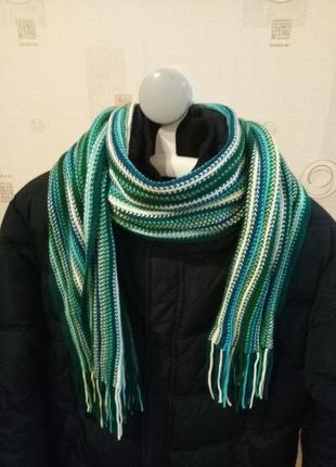 Зимний шарф цветной