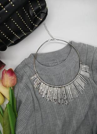 Шикарное колье ожерелье. бижутерия. украшения. подвеска на шею.