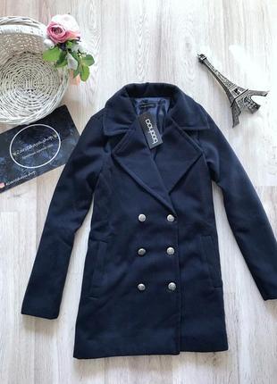 Шикарне пальто темно-синього кольору🌑від boohoo💫