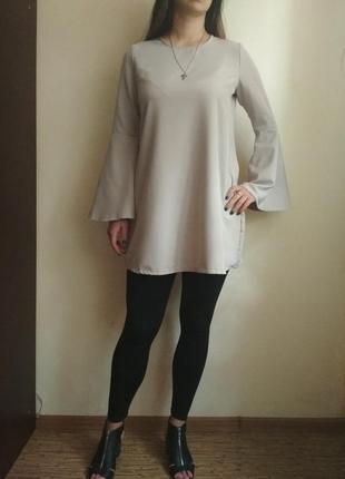 Туника, платье трапеция с рукавами клеш