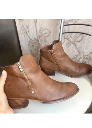 Ботинки, сапоги на маленьком каблуке  осень-весна полусапожки