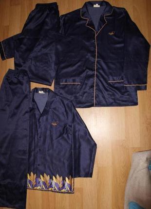Мужская пижама (комплект верх+низ), пижамный набор для мужчины и женщины s/m/l