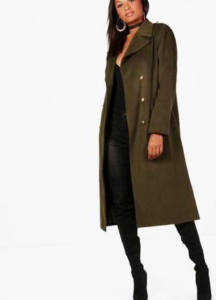 Демисезонное пальто в стиле милитари