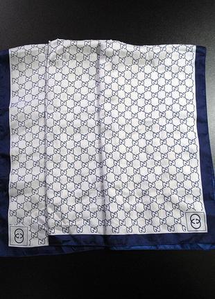 Шёлковый шарф gucci silk scarf
