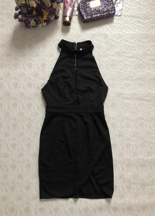 Эффектное черное платье со шнуровкой , на завязках s- m размер