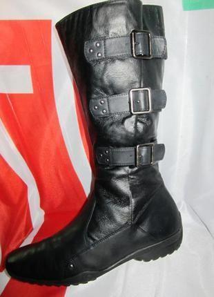 Стильные кожаные сапоги от немецкого бренда jana 40р.(26,5см.)