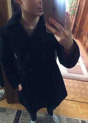 Тёплое кашемировое пальто