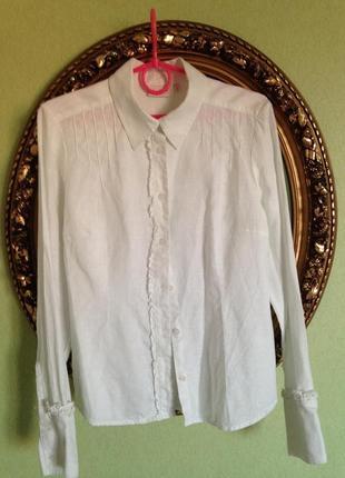 Шикарная блуза рубашка лен