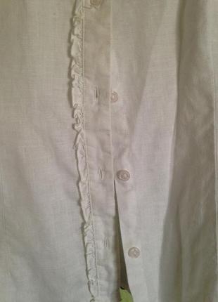 Шикарная блуза рубашка лен 100%