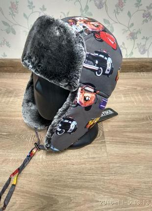 Теплая зимняя шапка ушанка 48-52 размер