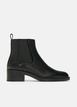 Натуральная кожа. ботинки челси кожаные zara (36,37,38,39,40)