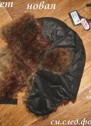 Зимняя шапка-ушанка , f&f