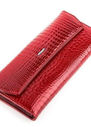 Кошелек женский balisa 13862 кожаный красный