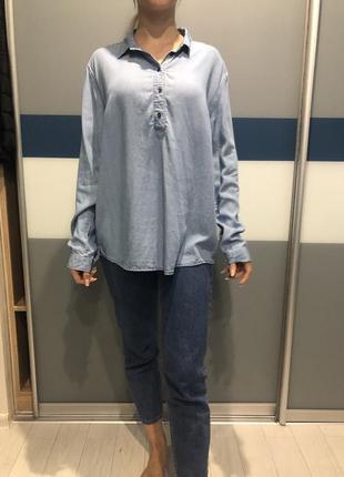 Джинсовая блузка бренд s.oliver