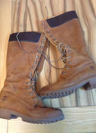 Высоки женские сапоги timberland waterproof на шнуровке {влагостойкие}
