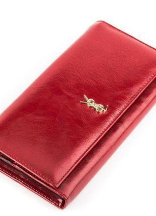 Кошелек женский balisa 13855 кожаный красный