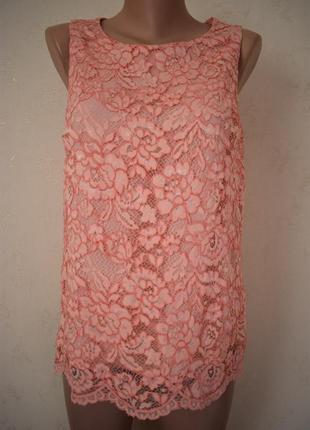Нежная кружевная блуза f&f
