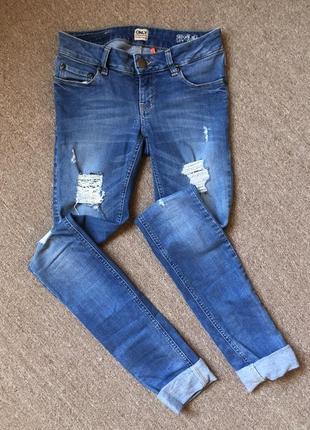Акция дня !!!джинсы с потёртостями only