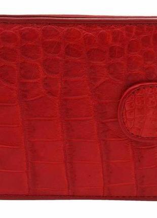 e8496b1a2641 Портмоне женское crocodile leather 18137 из натуральной кожи крокодила  красное, красный1 ...