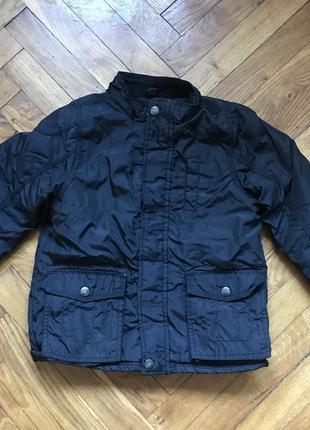 Куртка зимняя теплая на мальчика без капюшона 110см