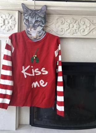 Новогодний свитер кофта новогодняя papaya