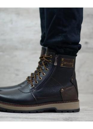 Мужские кожаные ботинки zangak 136
