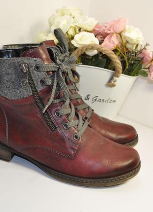 Теплые ботинки remonte 38р 24,5см кожа