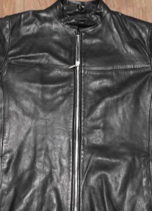Осенняя куртка пиджак кожа