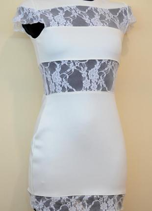 Жіноче трикотажне плаття з гіпюром р. xs, s