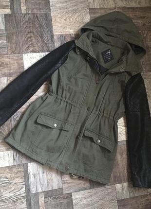 Парка куртка осенняя хаки