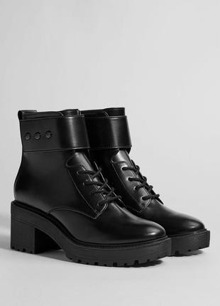 Ботинки на каблуке и средней платформе, 36-40