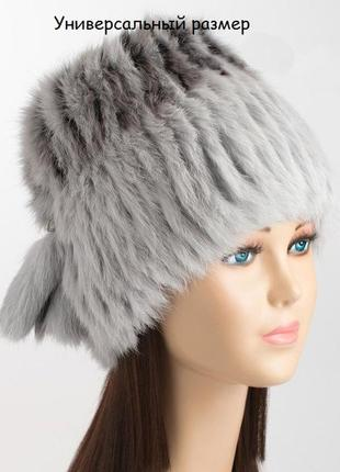 Модные женские шапки из натурального меха кролика и чернобурки 27 моделей