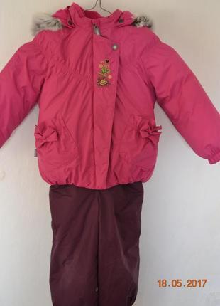 Зимний комбинезон и курточка lenne р. 98+6