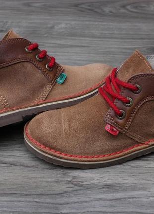 Ботинки дезерты kickers кожа и натур. замш 33 размер оригинал