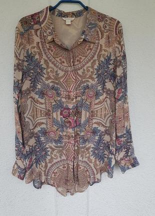 Блузка блуза  цветочный принт