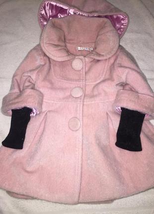 Теплое пальтишко для маленькой модницы