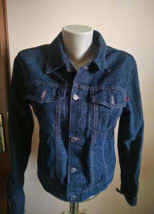 Коротка джинсовая курточка м 100% коттон only
