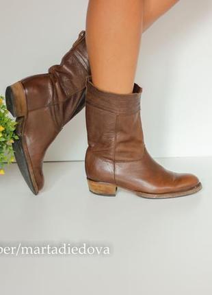 Кожаные сапоги ботинки полусапожки, натуральная кожа, бренд atelier do sapato