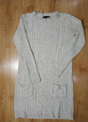 Теплое вязаное платье молочного цвета atmosphere