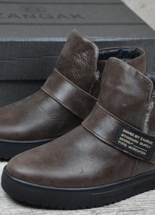 157586cb8c06 Мужские кожаные зимние ботинки zangak, цена - 1250 грн,  17329542 ...