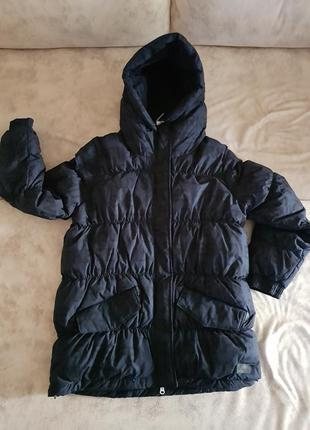 Женская зимняя куртка adidas womens heavy down parka,dark navy/black