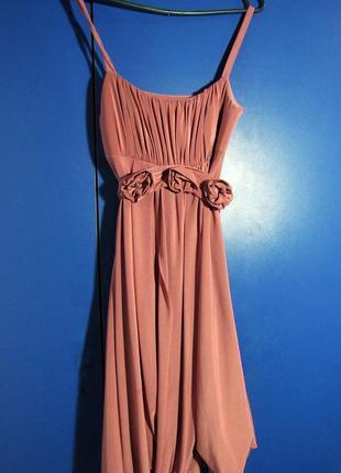Вечернее платье, розовое платье, платье на выход
