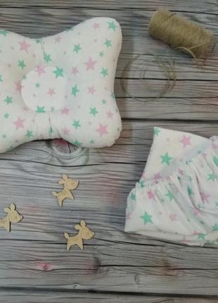 Подушка и простынь в коляску