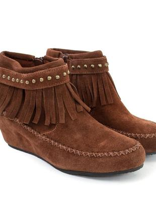 Кожаные замшевые ботинки ботиночки полусапожки кожа
