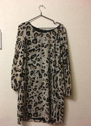 Интересное платье с леопардовым принтом
